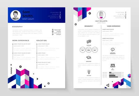 個人の履歴書 - ベクトル テンプレート イラスト  イラスト・ベクター素材