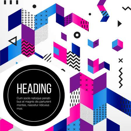 抽象的な背景 - プレゼンテーションのためのベクトル テンプレート フラット デザインの背景。あなたのアイデアは、見栄えを確認します。本文の 写真素材