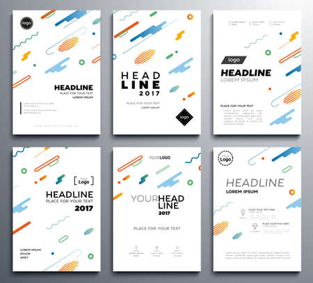 Presentation booklet covers - vector template pages set Illusztráció