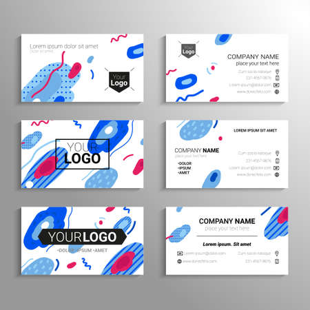 Business cards - vector template abstract background