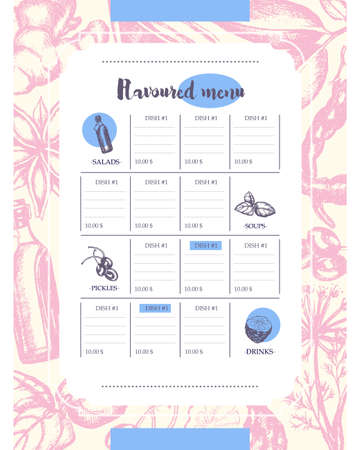 anise: Flavoured Products - hand drawn template menu
