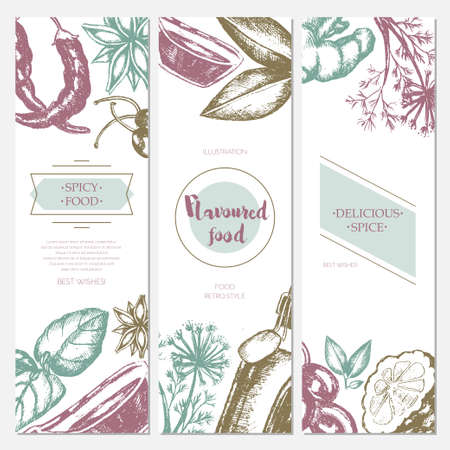 Flavoured Products - hand drawn template banner.