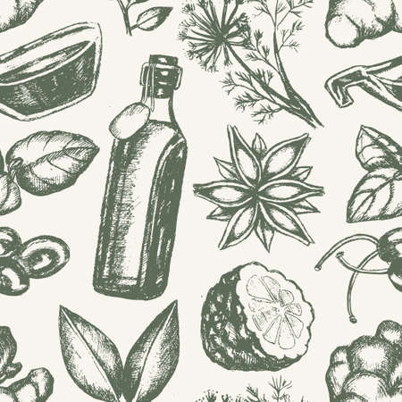 Flavoured Products - hand drawn seamless pattern