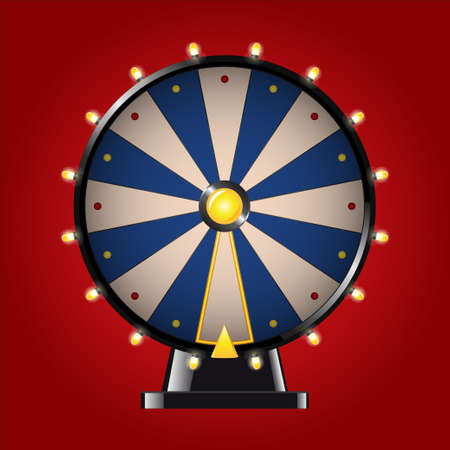 Wheel of Fortune - realistic vector modern image Illustration