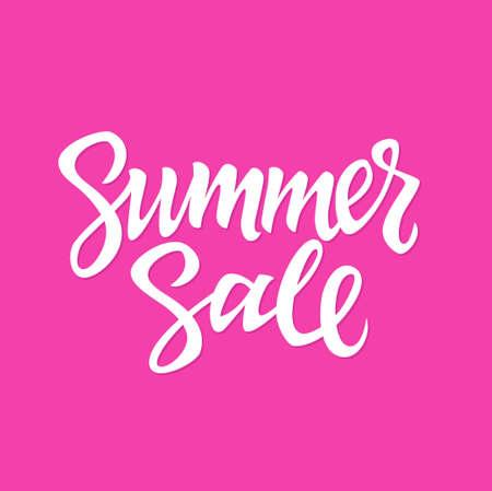 Summer Sale - vector hand drawn brush lettering