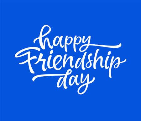 Friendship Day - vector drawn brush lettering Illustration
