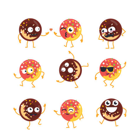 Donuts cartoon karakter.