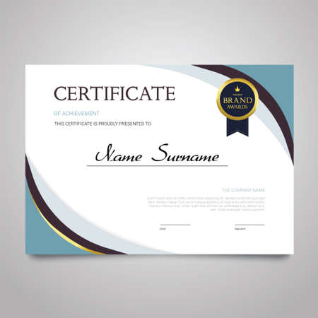 Certificate - horizontal elegant vector document Imagens - 81448249