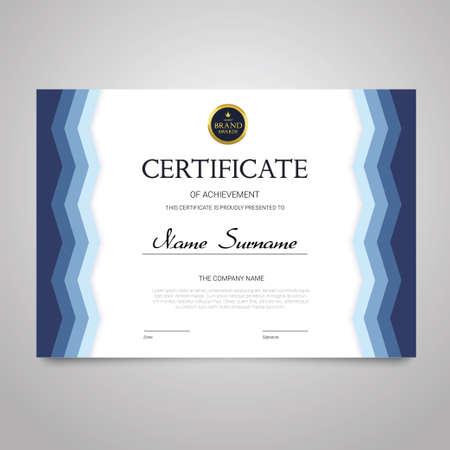 Certificate - horizontal elegant vector document