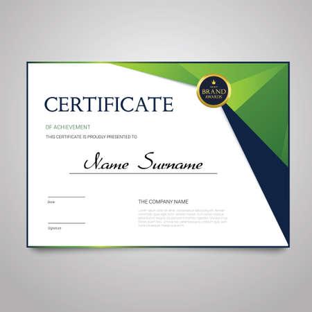Certificato - documento vettoriale elegante orizzontale Archivio Fotografico - 81448248