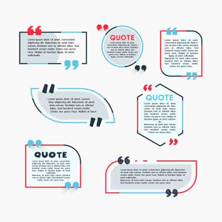 Citar Burbujas - vector moderno conjunto de colores de formas con texto