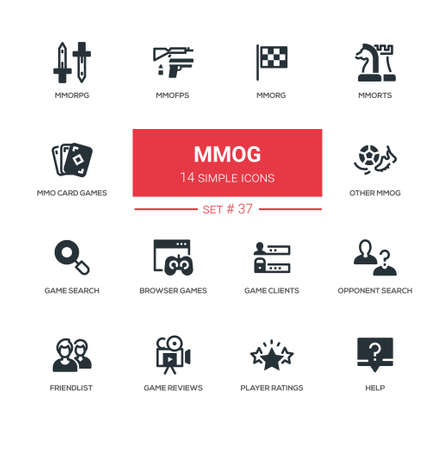 MMOG - modern vector line design icons set