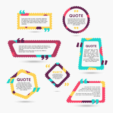 シャボン玉 - を引用するテキストを含む図形の現代ベクトル色を設定
