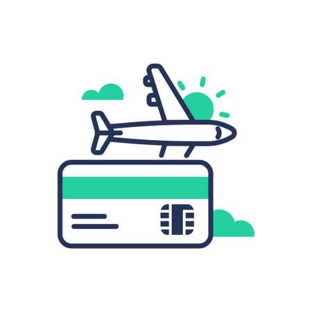 Travel - modern single vector line design icon.