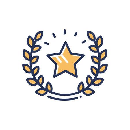 Garantía - icono de diseño de línea de vector único moderno. Foto de archivo - 83563676