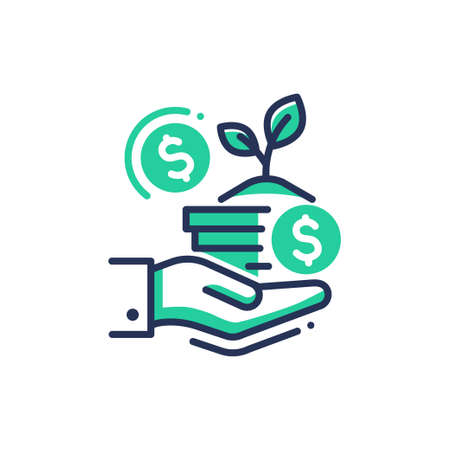 Donation - modern single vector line icon.
