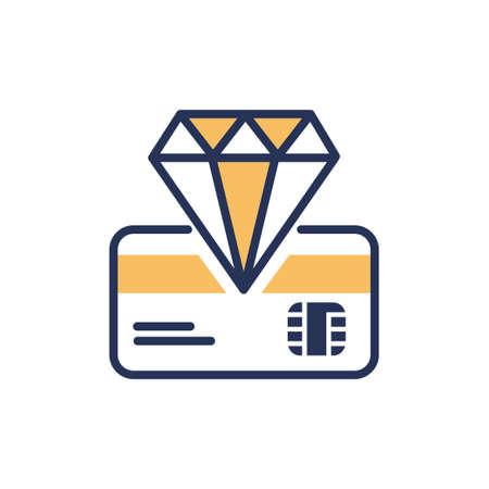 Premium Card - modern vector line design icon.