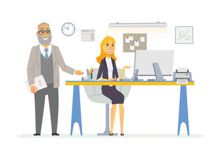 Office Life - modern vector cartoon business characters illustration