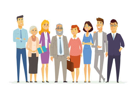 Office Team - modern vector business cartoon characters illustration
