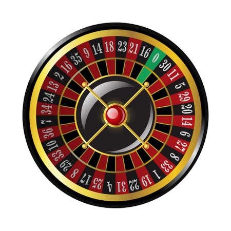Casino roulette - moderne vector geïsoleerde illustraties