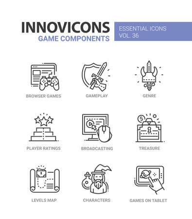 Game related  icons. Illustration