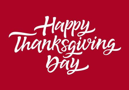 Thanksgiving Day - vector drawn brush lettering