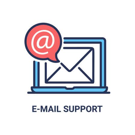 Inbox e-mail - modern vectorlijnpictogram Stock Illustratie
