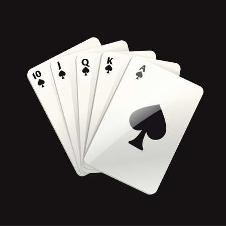 Game black cards - modern vector realistic isolated clip art