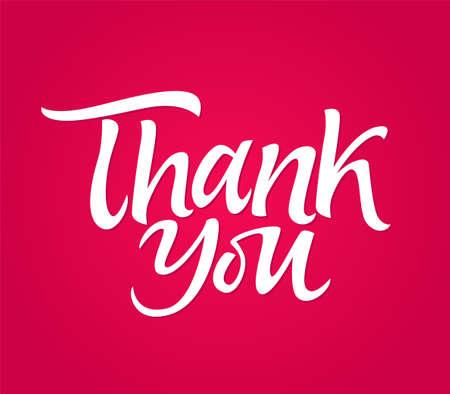 ありがとう-ベクトル描画ブラシペンレタリングメッセージ  イラスト・ベクター素材