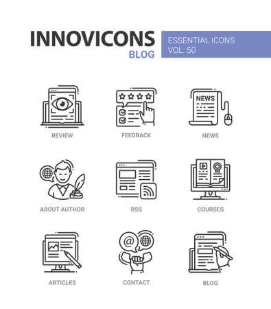 Blog - modern vector line design icons set