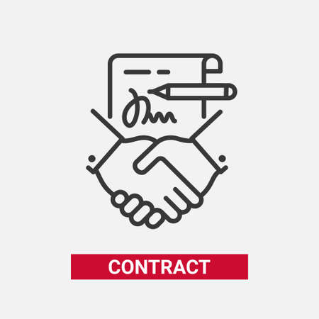 Contract modern vector line design single icon.