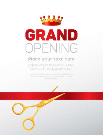 Grand opening template - modern vector illustration Stock Photo