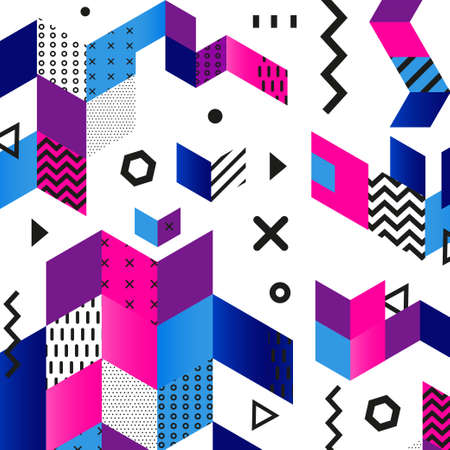 Funky abstract geometric patterns Illustration