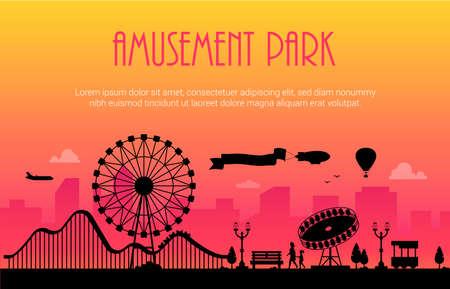 Attractiepark Stock Illustratie