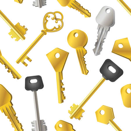 Patrón de llaves Foto de archivo - 87848879
