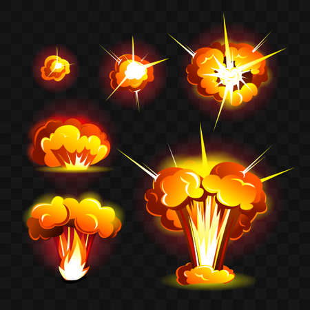 Big explosion - modern vector realistic isolated clip art