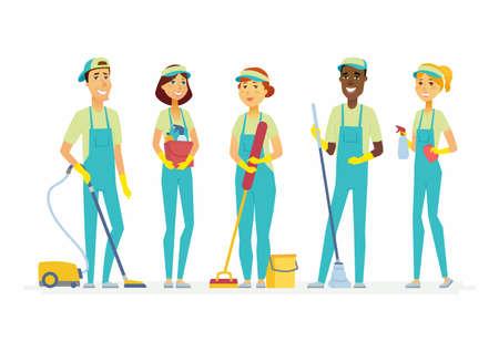 Cleaning staff Illustration