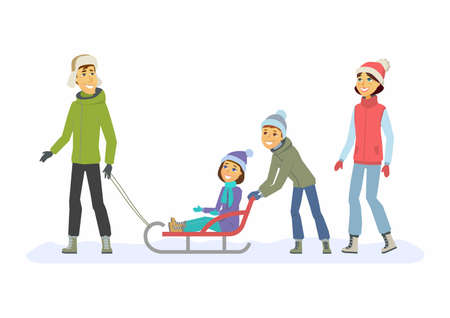 Happy Family weekend Illustration