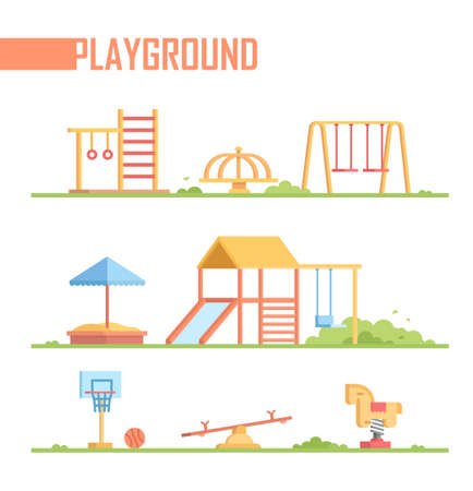 Set of playground elements