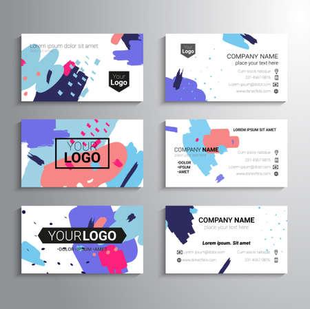 Set of business cards Illustration