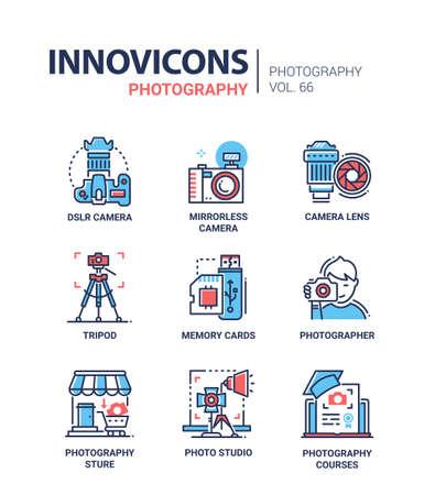 Photography - line design icons set