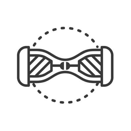 Gyroscooter- 라인 디자인 단일 고립 된 아이콘