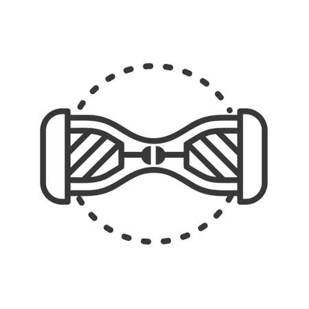 Gyroscooter - line design single isolated icon