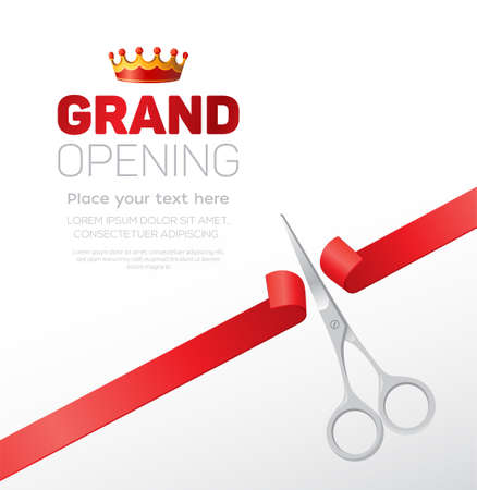 Grand opening template - modern vector illustration with place for text