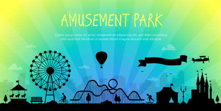 Amusement park - modern illustration
