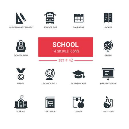 School concept - line design icons set Illusztráció