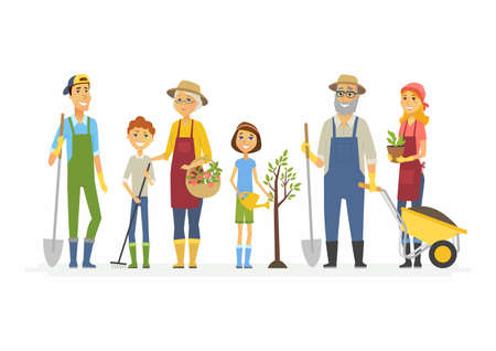 Voluntary saturday work - cartoon people characters isolated illustration Stock fotó
