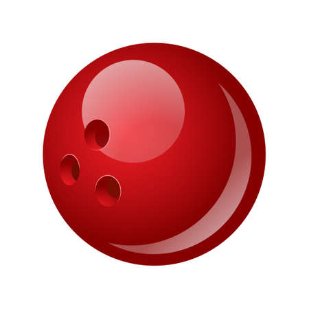 Bowling ball - modern vector realistic isolated object 向量圖像