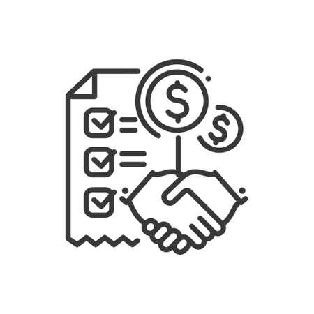 Contract conceptontwerp illustratie