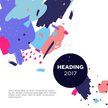 Abstrait moderne avec la place pour votre texte et en-tête formé dans un cadre rond foncé. Banque d'images - 90608584